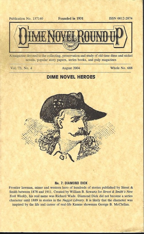 Image for DIME NOVEL ROUND-UP: August 2004 (Diamond Dick)