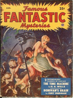 "Image for FAMOUS FANTASTIC MYSTERIES: August, Aug. 1950 (""The Time Machine""; ""Donovan's Brian"")"