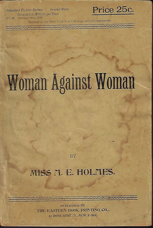 Image for WOMAN AGAINST WOMAN: STANDARD FICTION SERIES, ISSUED DAILY: No 36, October, Oct. 20, 1894