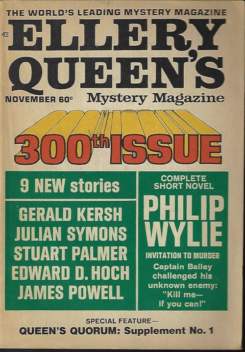 "Image for ELLERY QUEEN'S Mystery Magazine: November, Nov. 1968 (""Queen's Quorum: Supplement No. 1"")"