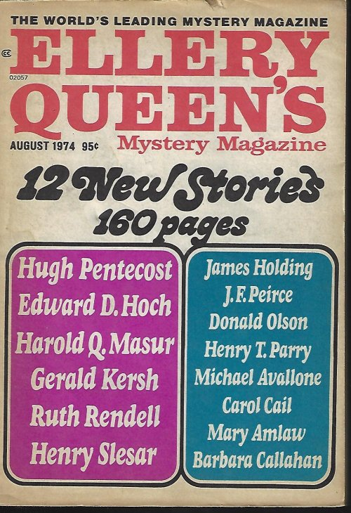 Image for ELLERY QUEEN'S Mystery Magazine: August, Aug. 1974