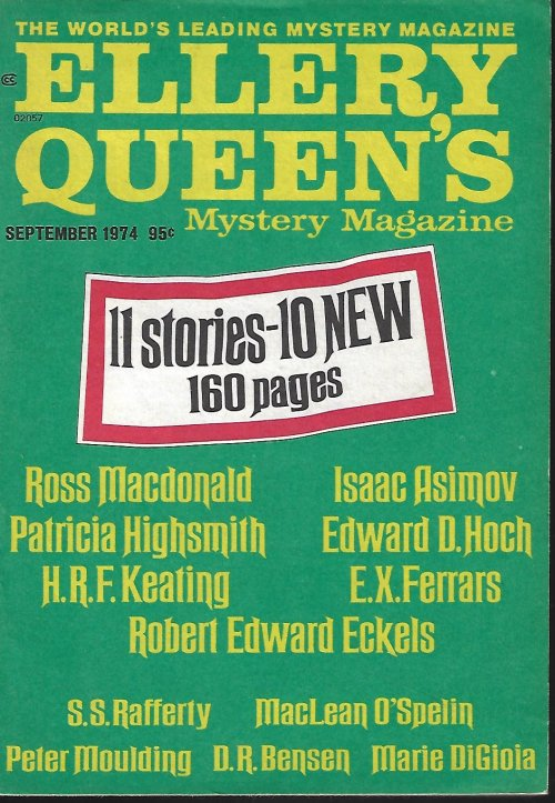 Image for ELLERY QUEEN'S Mystery Magazine: September, Sept. 1974