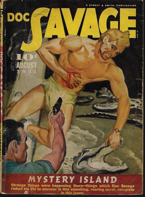"Image for DOC SAVAGE: August, Aug. 1941 (""Mystery Island"")"