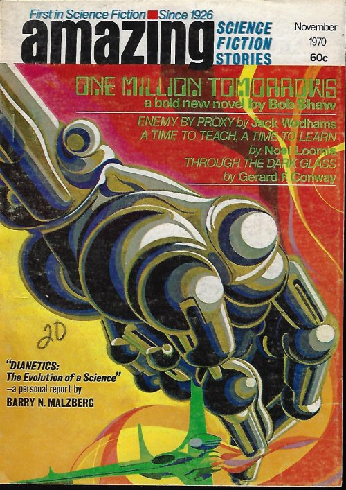 "Image for AMAZING Stories: November, Nov. 1970 (""One Million Tomorrows""; Dianetics article)"