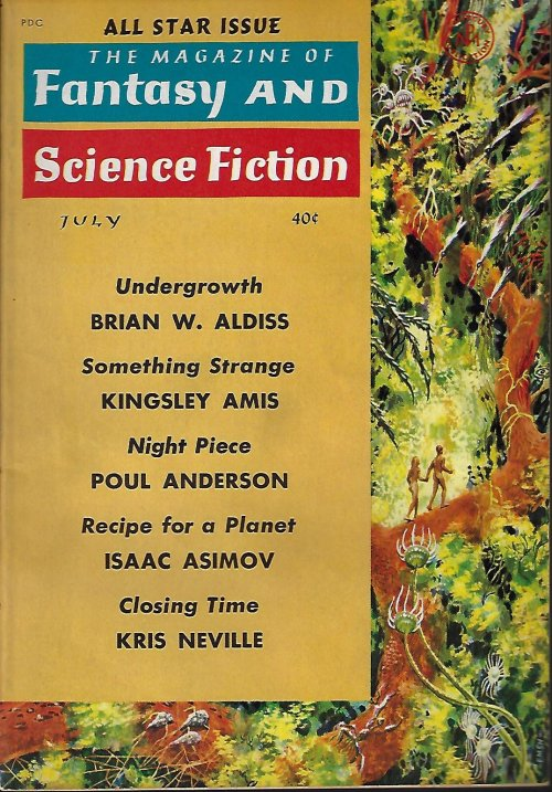 "Image for The Magazine of FANTASY AND SCIENCE FICTION (F&SF): July 1961 (""Hothouse"")"