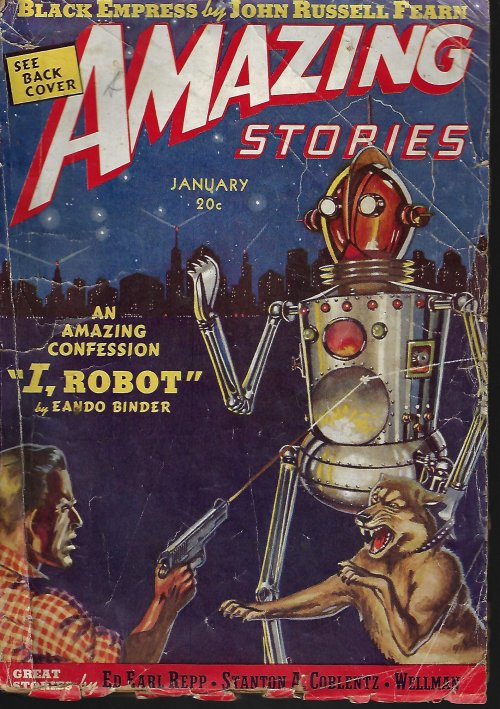 "Image for AMAZING Stories: January, Jan. 1939 (""Adam Link"" in ""I, Robot"")"